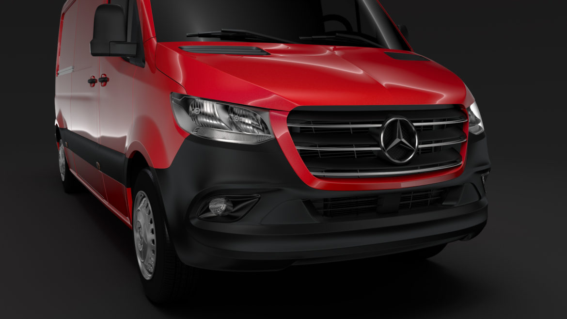 mercedes sprinter panel van l2h1 fwd 2019 3d model 3ds max fbx c4d lwo ma mb hrc xsi obj 312972