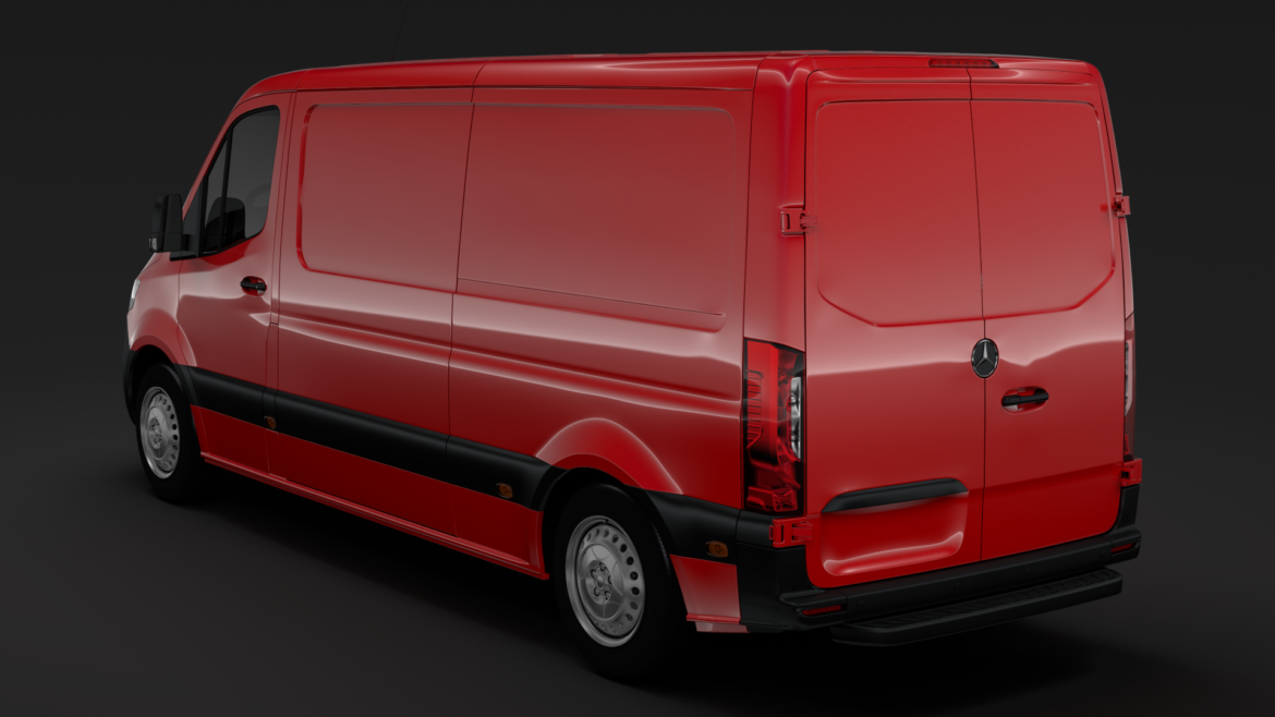 mercedes sprinter panel van l2h1 fwd 2019 3d model 3ds max fbx c4d lwo ma mb hrc xsi obj 312973