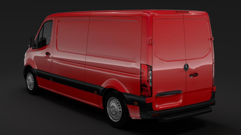 Mercedes Sprinter Panel Van L2H1 FWD 2019 model 3D 3DS MAX FBX C4D LWO MA MB HRC XSI OB 312973