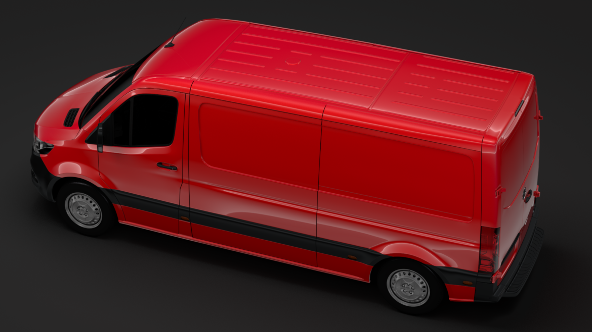 mercedes sprinter panel van l2h1 fwd 2019 3d model 3ds max fbx c4d lwo ma mb hrc xsi obj 312975