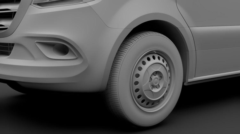 Mercedes Sprinter Panel Van L2H1 FWD 2019 model 3D 3DS MAX FBX C4D LWO MA MB HRC XSI OB 312976