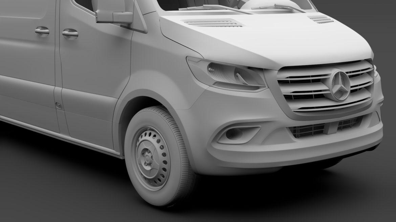 Mercedes Sprinter Panel Van L2H1 FWD 2019 model 3D 3DS MAX FBX C4D LWO MA MB HRC XSI OB 312977