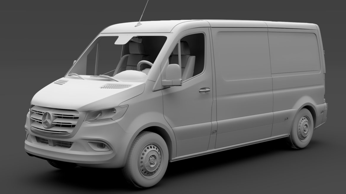 mercedes sprinter panel van l2h1 fwd 2019 3d model 3ds max fbx c4d lwo ma mb hrc xsi obj 312978