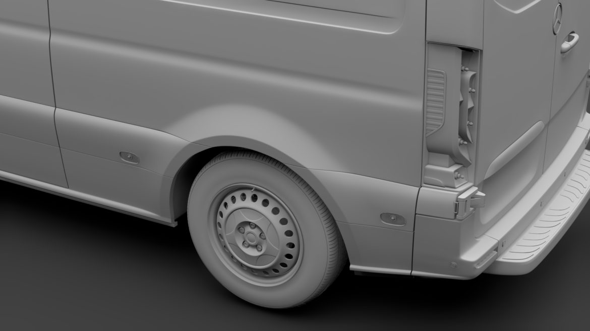 mercedes sprinter panel van l2h1 fwd 2019 3d model 3ds max fbx c4d lwo ma mb hrc xsi obj 312979