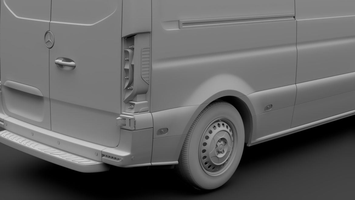 mercedes sprinter panel van l2h1 fwd 2019 3d model 3ds max fbx c4d lwo ma mb hrc xsi obj 312980