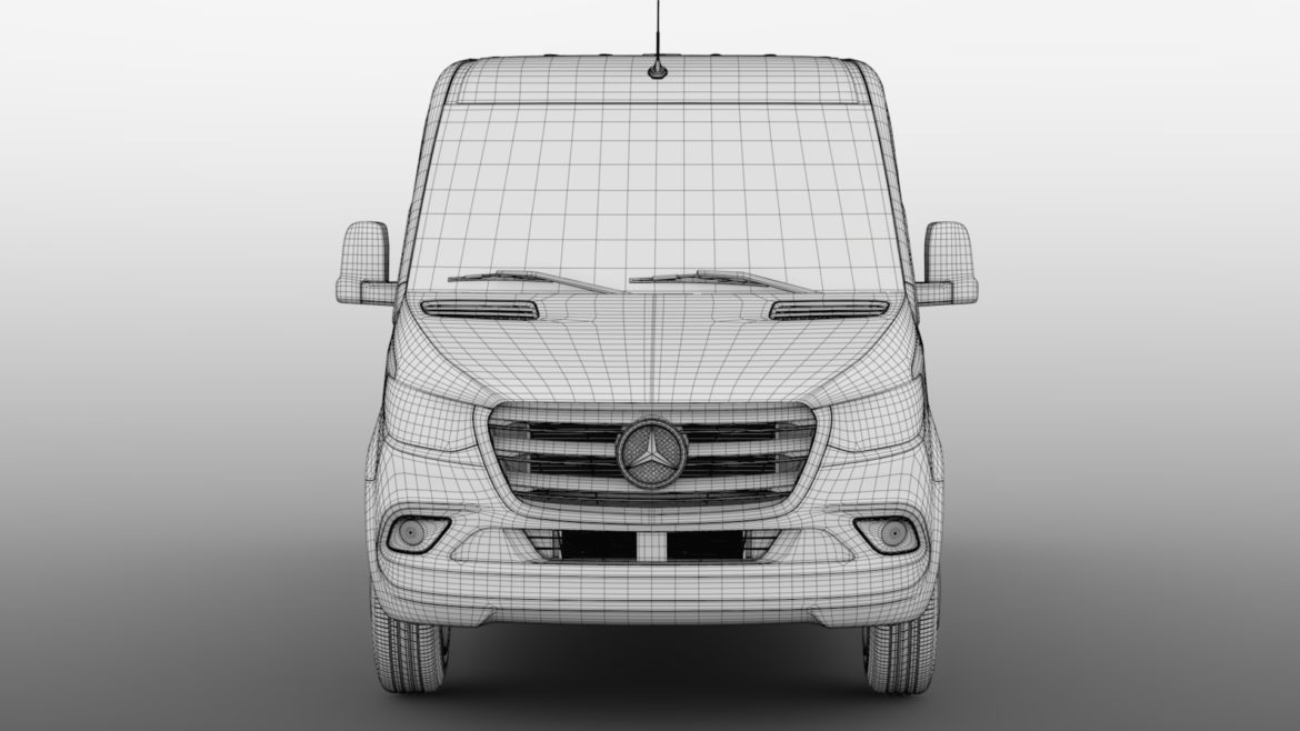 mercedes sprinter panel van l2h1 fwd 2019 3d model 3ds max fbx c4d lwo ma mb hrc xsi obj 312981