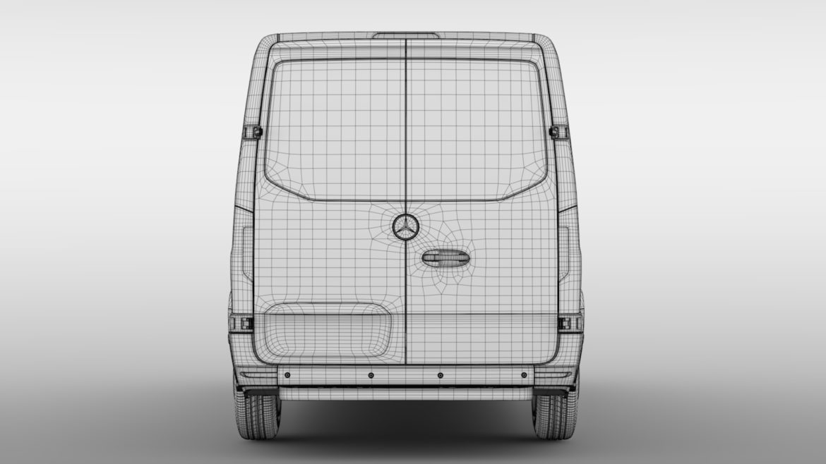 mercedes sprinter panel van l2h1 fwd 2019 3d model 3ds max fbx c4d lwo ma mb hrc xsi obj 312983