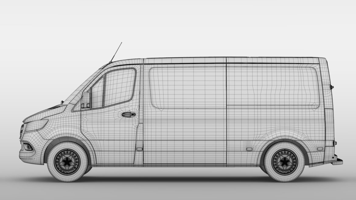 mercedes sprinter panel van l2h1 fwd 2019 3d model 3ds max fbx c4d lwo ma mb hrc xsi obj 312984