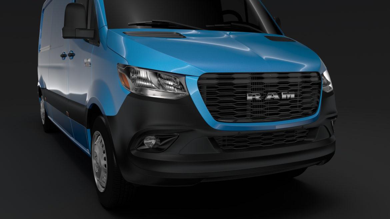 ram sprinter panel van L2H1 FWD 2019 model 3D 3DS MAX FBX C4D LWO MA MB HRC XSI OB 313000