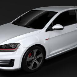 volkswagen golf 7 gti 3d 2016 3d model 3ds max fbx c4d lwo ma mb hrc xsi obj 313302