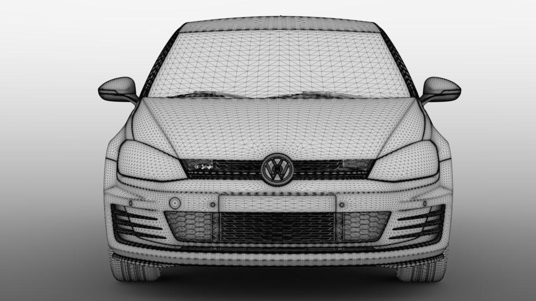 volkswagen golf 7 gti 3d 2016 3d model 3ds max fbx c4d lwo ma mb hrc xsi obj 313313