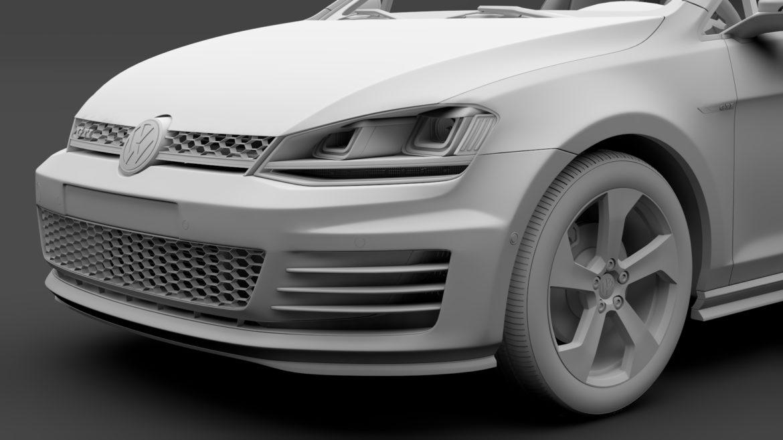 volkswagen golf 7 gti 3d 2016 3d model 3ds max fbx c4d lwo ma mb hrc xsi obj 313314
