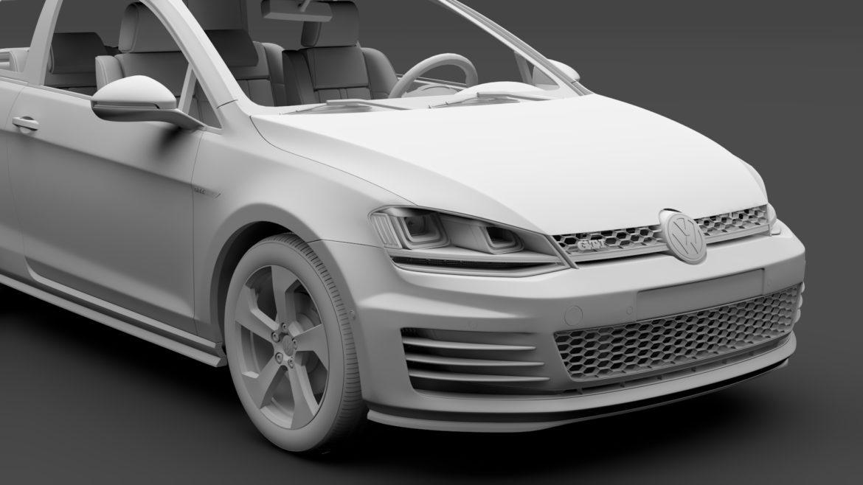 volkswagen golf 7 gti 3d 2016 3d model 3ds max fbx c4d lwo ma mb hrc xsi obj 313315
