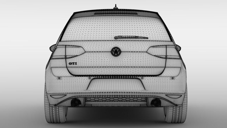 volkswagen golf 7 gti 3d 2016 3d model 3ds max fbx c4d lwo ma mb hrc xsi obj 313317