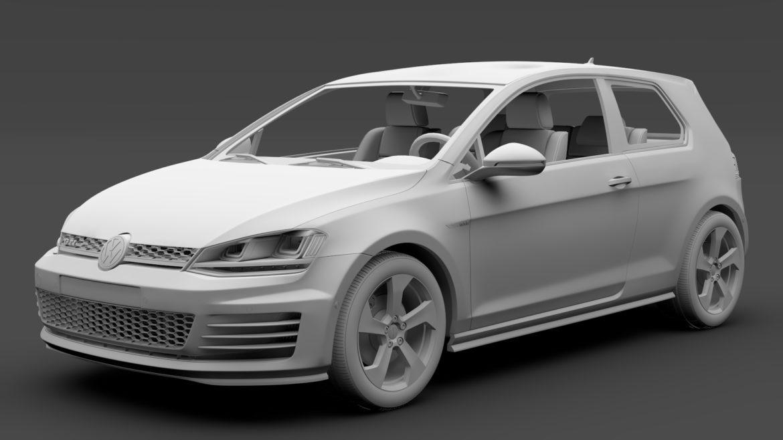 volkswagen golf 7 gti 3d 2016 3d model 3ds max fbx c4d lwo ma mb hrc xsi obj 313318