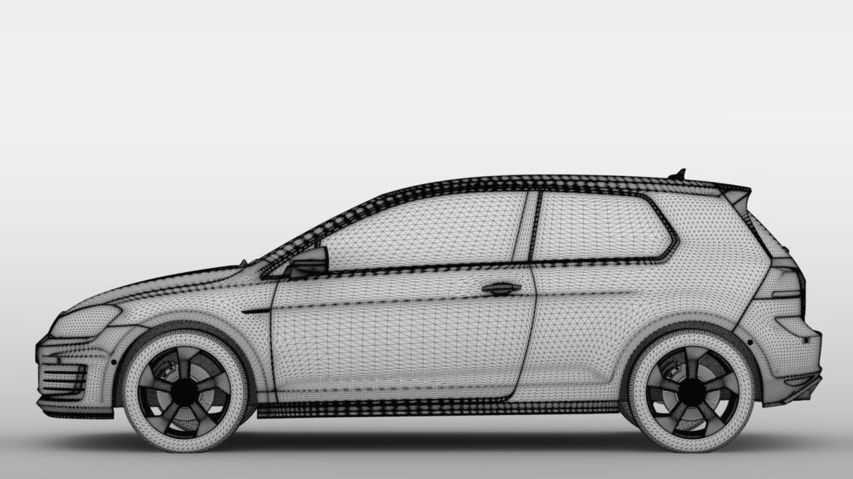 volkswagen golf 7 gti 3d 2016 3d model 3ds max fbx c4d lwo ma mb hrc xsi obj 313320