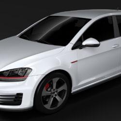 volkswagen golf 7 gti 5d 2016 3d model 3ds max fbx c4d lwo ma mb hrc xsi obj 313346