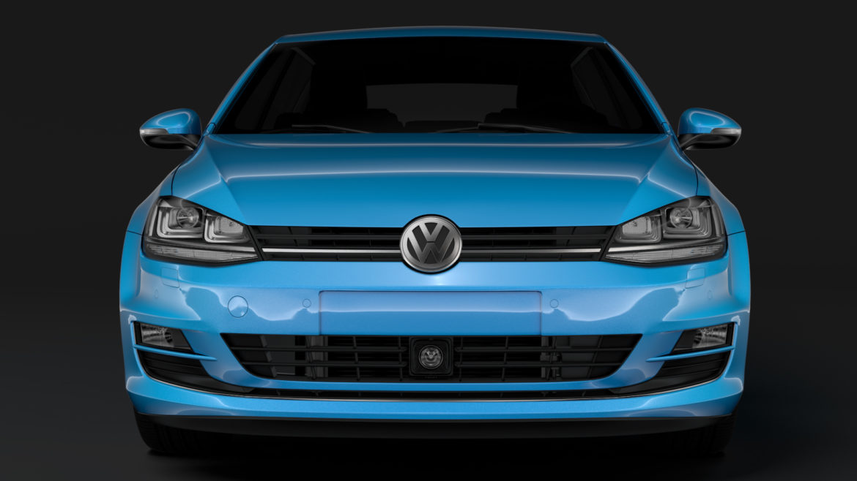 volkswagen golf 7 tdi 5d 2016 model 3d 3ds max fbx c4d lwo ma mb obj 313406