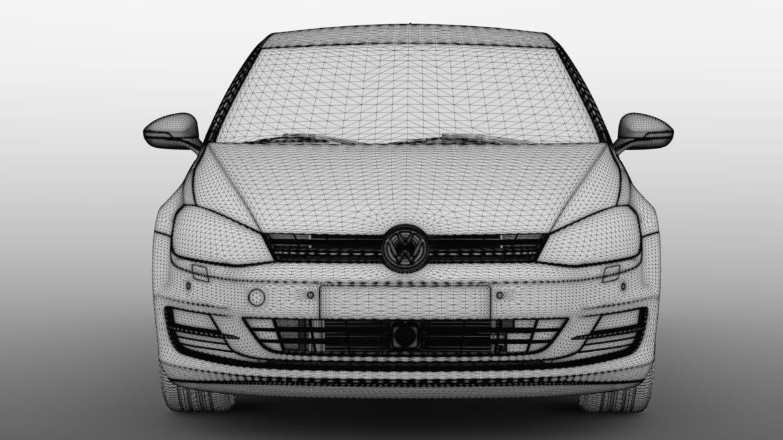 volkswagen golf 7 tdi 5d 2016 model 3d 3ds max fbx c4d lwo ma mb obj 313415