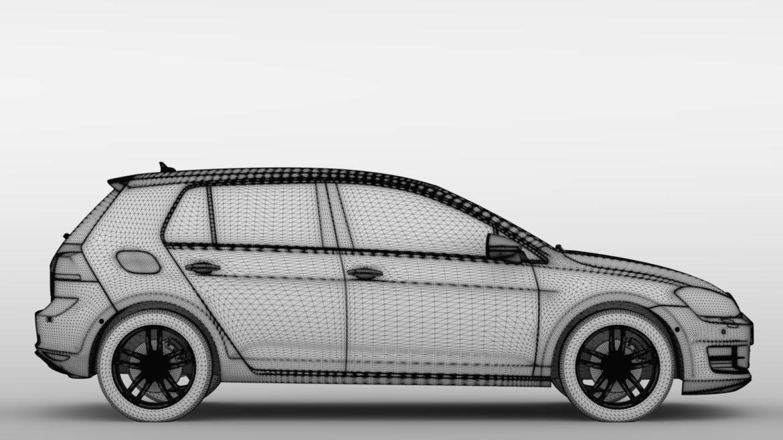 volkswagen golf 7 tdi 5d 2016 model 3d 3ds max fbx c4d lwo ma mb obj 313416