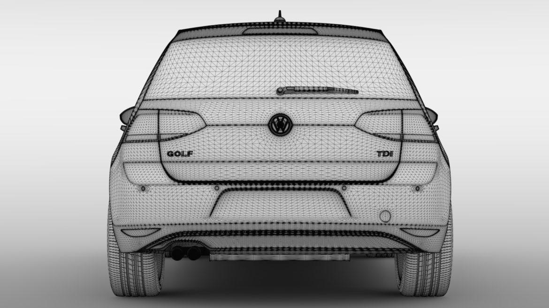 volkswagen golf 7 tdi 5d 2016 model 3d 3ds max fbx c4d lwo ma mb obj 313417