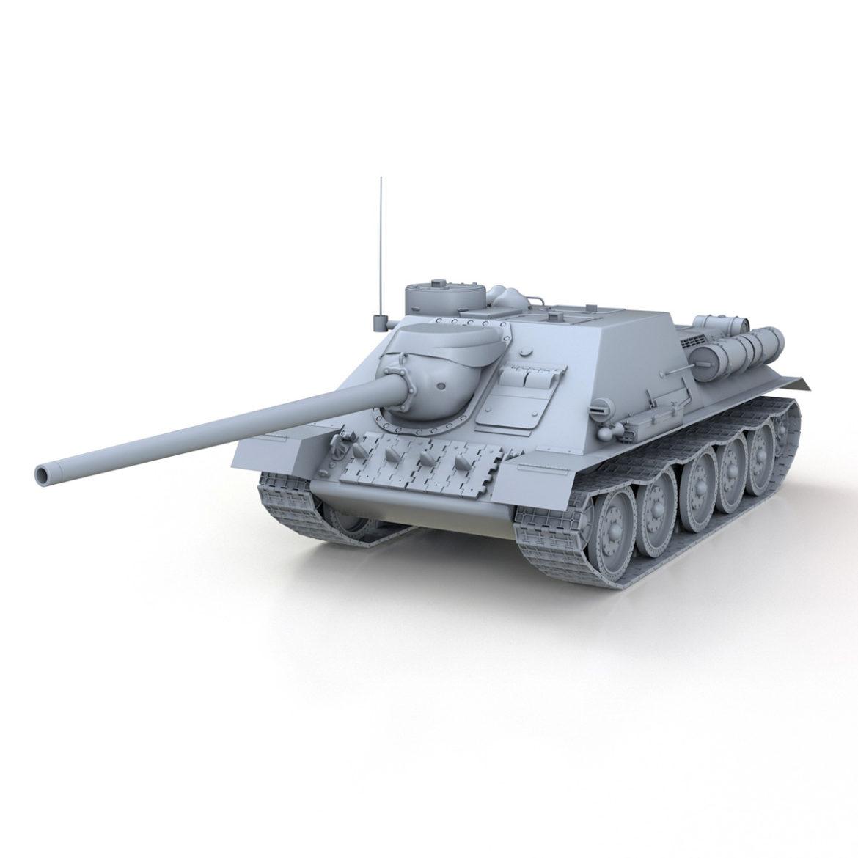 su-100 – soviet tank destroyer 3d model 3ds fbx c4d lwo obj 313442