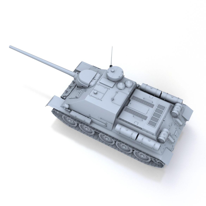 su-100 – soviet tank destroyer 3d model 3ds fbx c4d lwo obj 313444