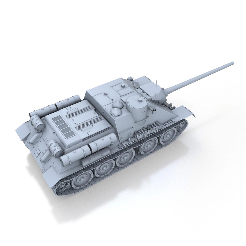 su-100 – soviet tank destroyer 3d model 3ds fbx c4d lwo obj 313446