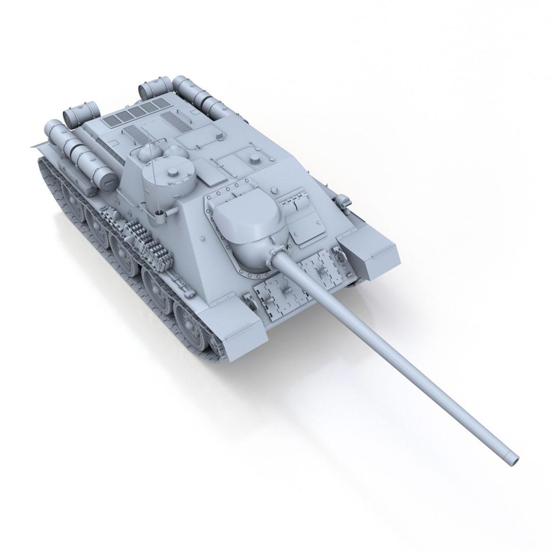 su-100 – soviet tank destroyer 3d model 3ds fbx c4d lwo obj 313447