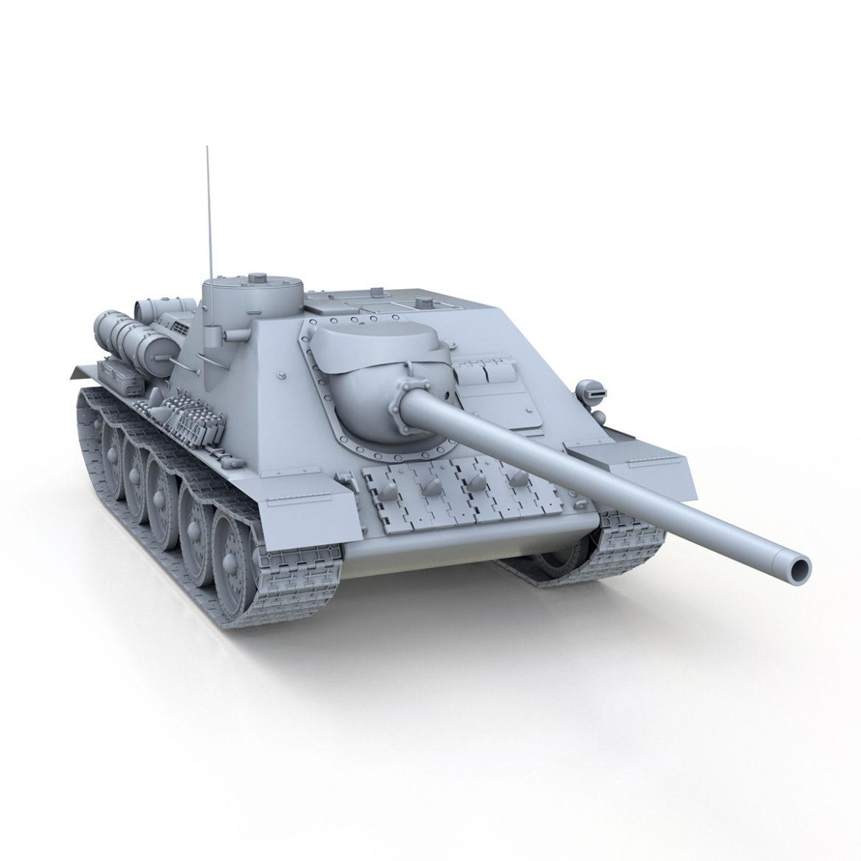 su-100 – soviet tank destroyer 3d model 3ds fbx c4d lwo obj 313448