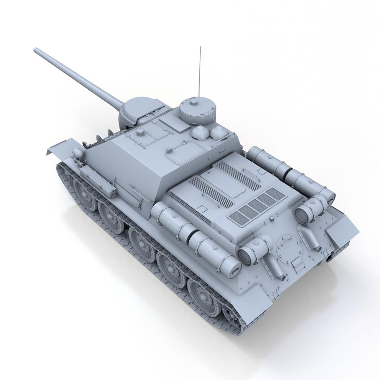 su-100 – soviet tank destroyer 3d model 3ds fbx c4d lwo obj 313449