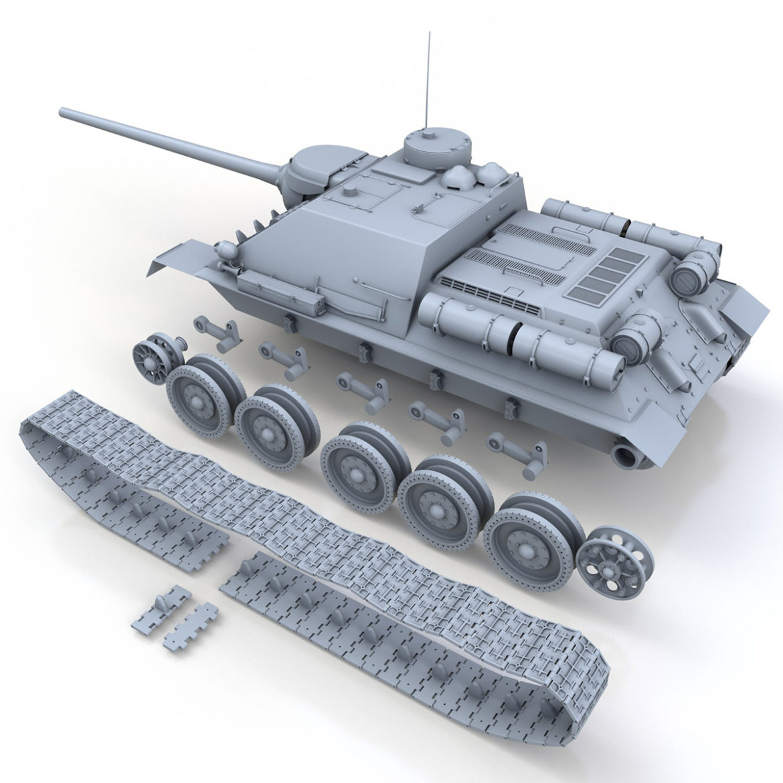 su-100 – soviet tank destroyer 3d model 3ds fbx c4d lwo obj 313450