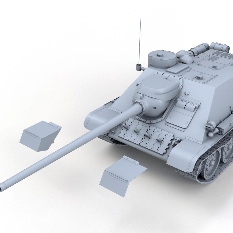su-100 – soviet tank destroyer 3d model 3ds fbx c4d lwo obj 313451