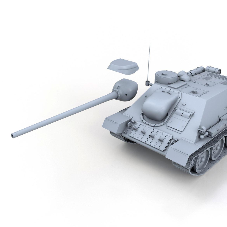 su-100 – soviet tank destroyer 3d model 3ds fbx c4d lwo obj 313452