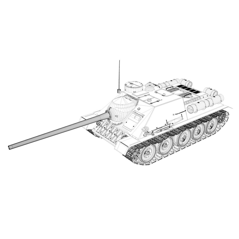 su-100 – soviet tank destroyer 3d model 3ds fbx c4d lwo obj 313453