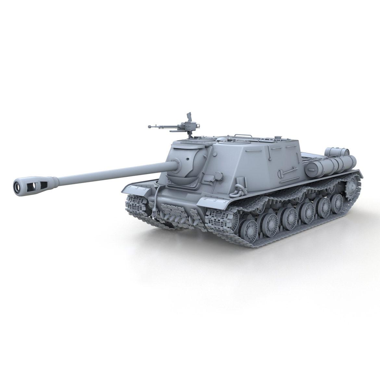 isu-122s - gwn ymosodiad soviet model 3d 3ds fbx c4d lwo 313463