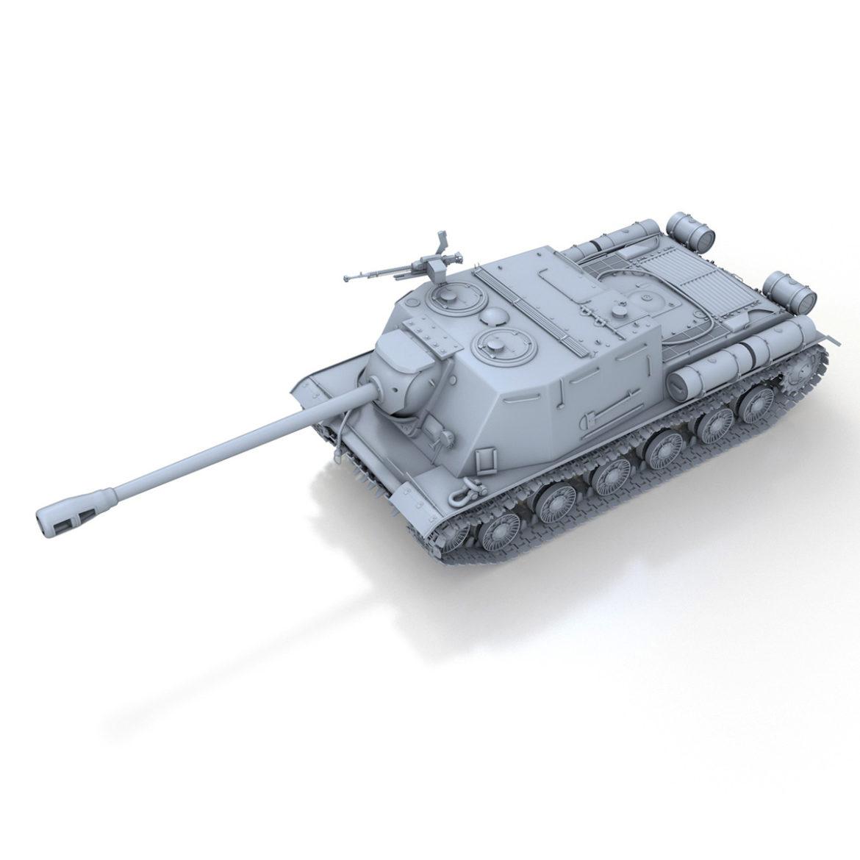 isu-122s - gwn ymosodiad soviet model 3d 3ds fbx c4d lwo 313464