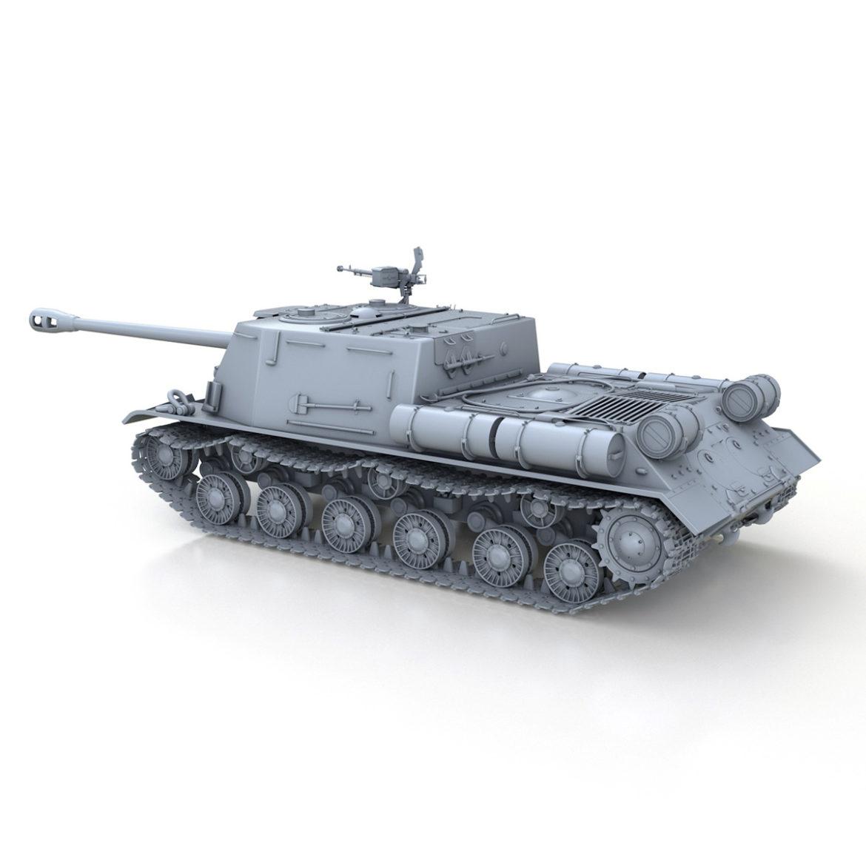 isu-122s - gwn ymosodiad soviet model 3d 3ds fbx c4d lwo 313465