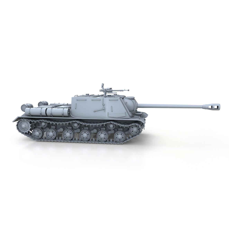 isu-122s - gwn ymosodiad soviet model 3d 3ds fbx c4d lwo 313468