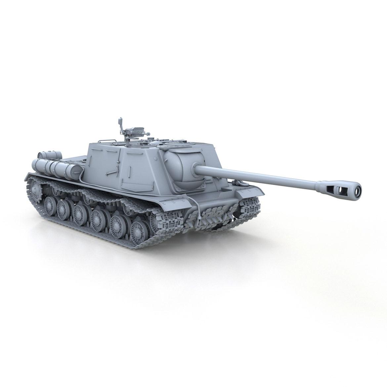 isu-122s - gwn ymosodiad soviet model 3d 3ds fbx c4d lwo 313469
