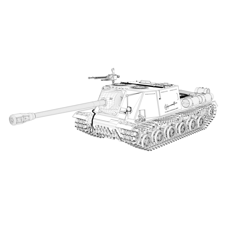 isu-122s - gwn ymosodiad soviet model 3d 3ds fbx c4d lwo 313472