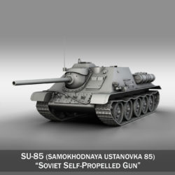 su-85 – soviet self-propelled gun 3d model 3ds fbx c4d lwo obj 313479