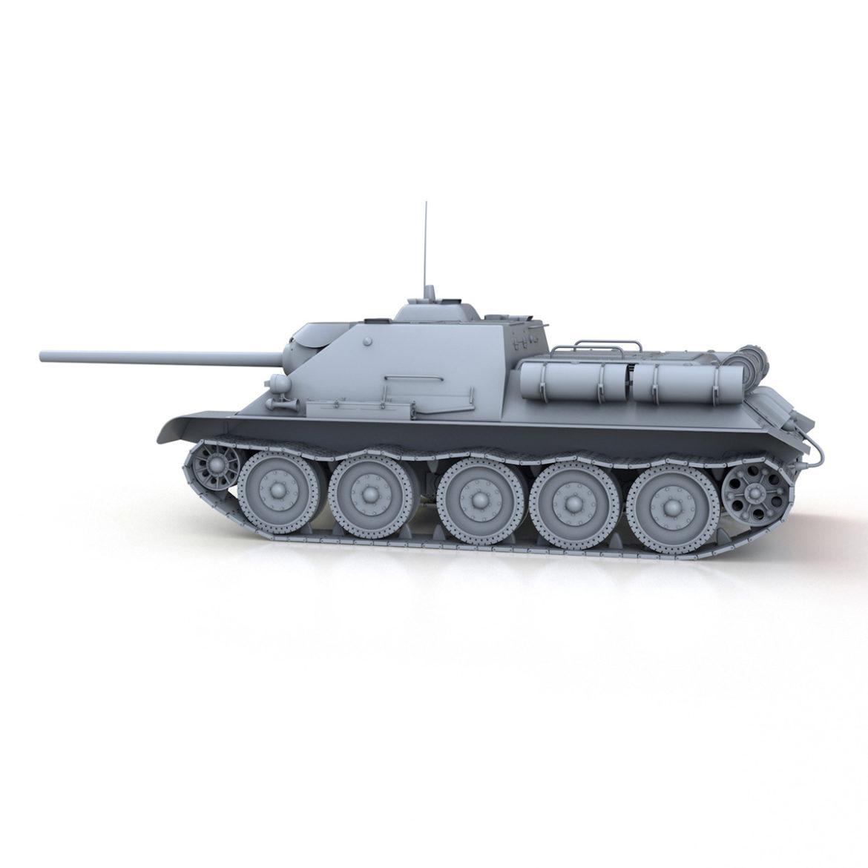su-85 – soviet self-propelled gun 3d model 3ds fbx c4d lwo obj 313482