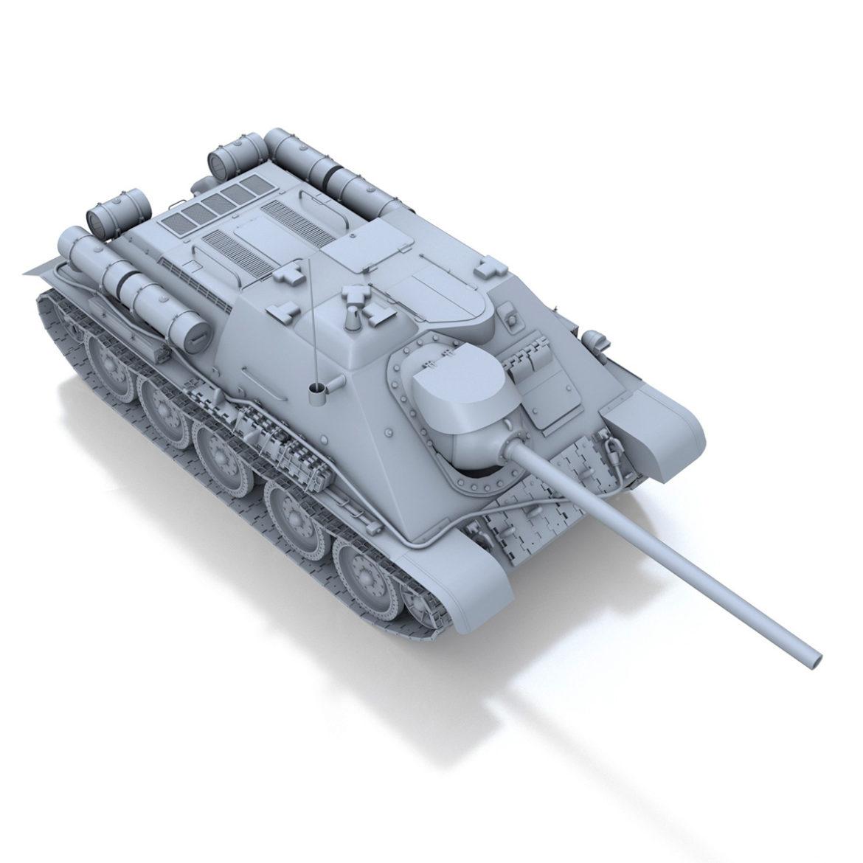 su-85 – soviet self-propelled gun 3d model 3ds fbx c4d lwo obj 313486