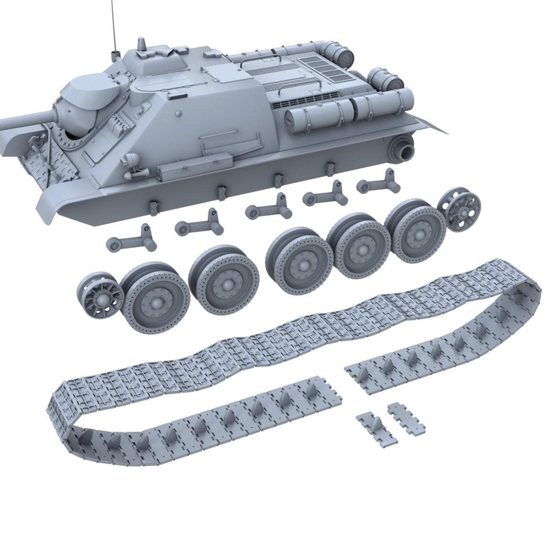su-85 – soviet self-propelled gun 3d model 3ds fbx c4d lwo obj 313488