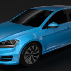 volkswagen golf 7 tgi bluemotion 5d 2016 3d model 3ds max fbx c4d lwo ma mb hrc xsi obj 313508