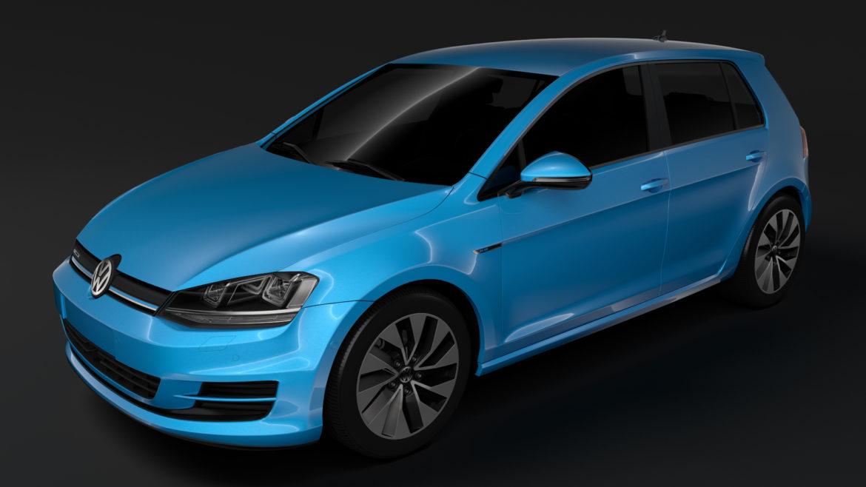 volkswagen golf 7 tgi bluemotion 5d 2016 3d model 3ds max fbx c4d lwo ma mb hrc xsi obj 313508