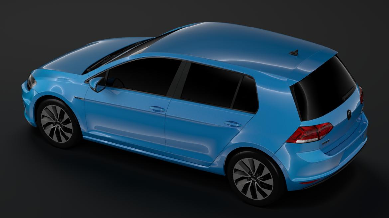 volkswagen golf 7 tgi bluemotion 5d 2016 3d model 3ds max fbx c4d lwo ma mb hrc xsi obj 313519