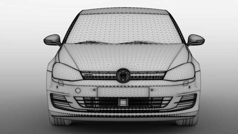 volkswagen golf 7 tgi bluemotion 5d 2016 3d model 3ds max fbx c4d lwo ma mb hrc xsi obj 313520