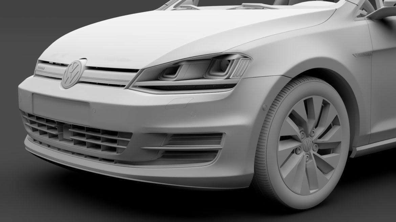 volkswagen golf 7 tgi bluemotion 5d 2016 3d model 3ds max fbx c4d lwo ma mb hrc xsi obj 313521